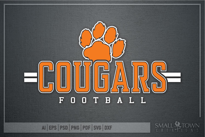 Cougar Football, Paw Print, Team, logo, PRINT, CUT & DESIGN example image 5