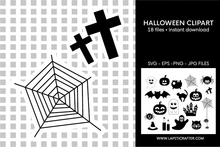 Halloween silhouette, halloween black clipart, digital stick example image 3
