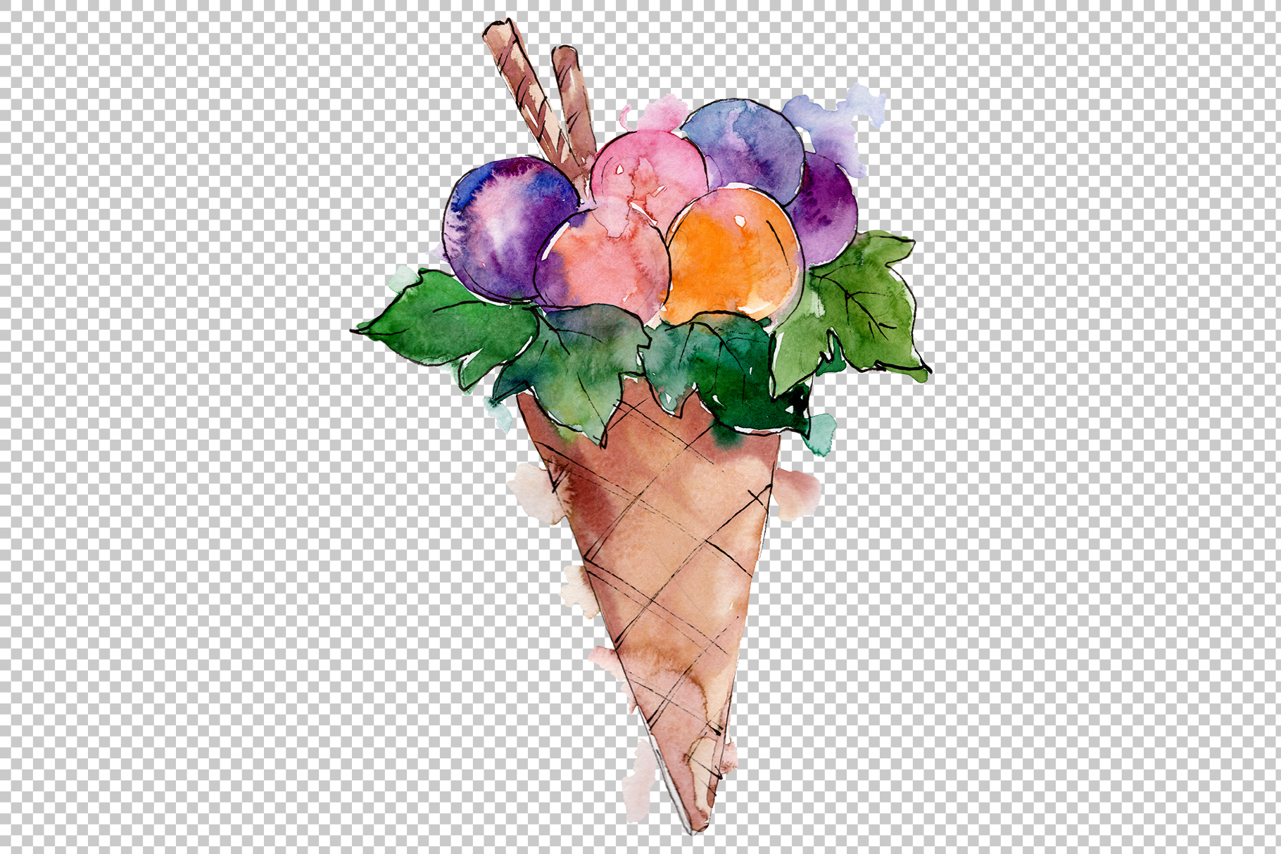 Fruit Dissert Watercolor png example image 5