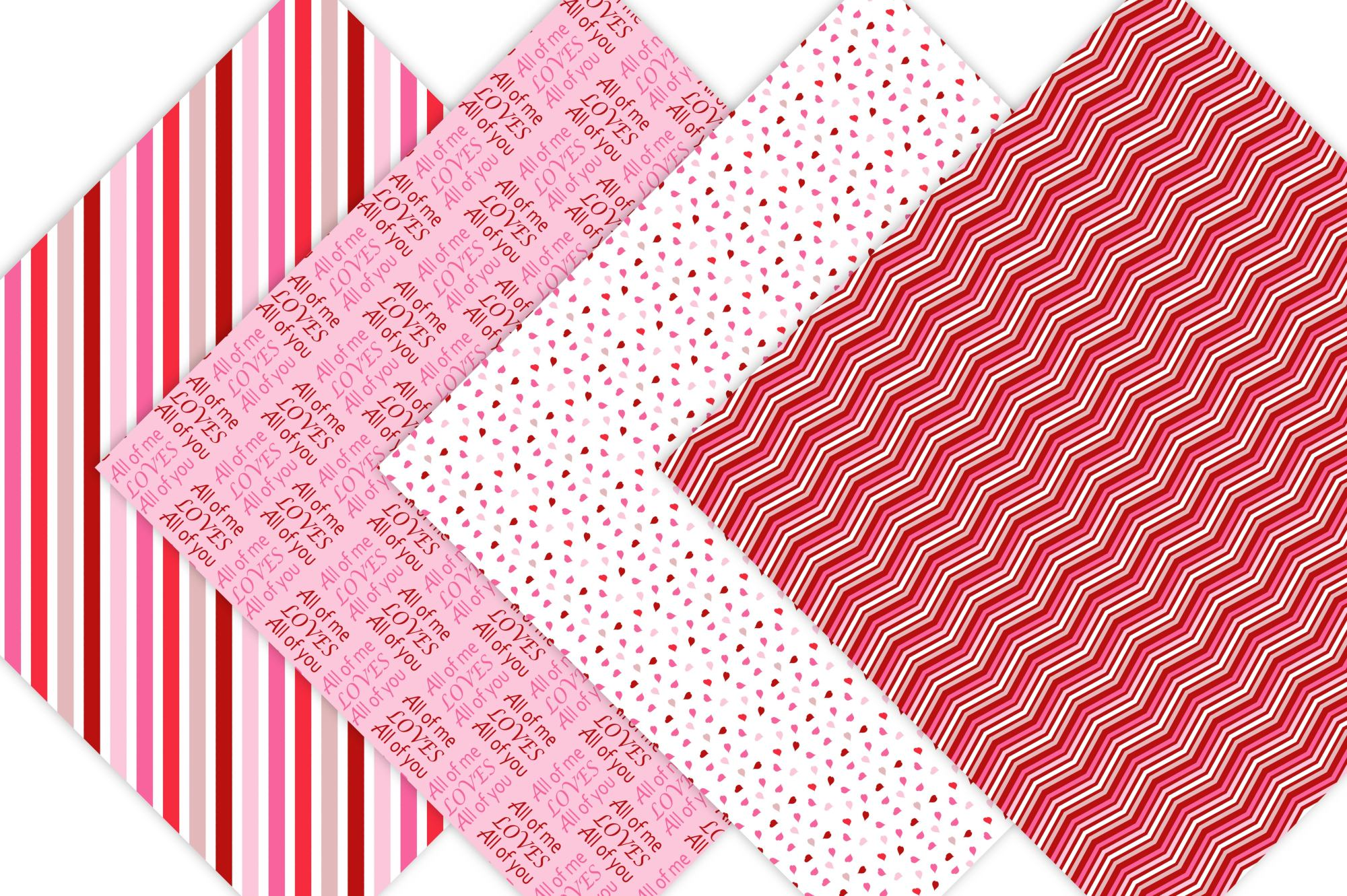 Valentine Digital Prints - Pink and Red Pattern Designs example image 3