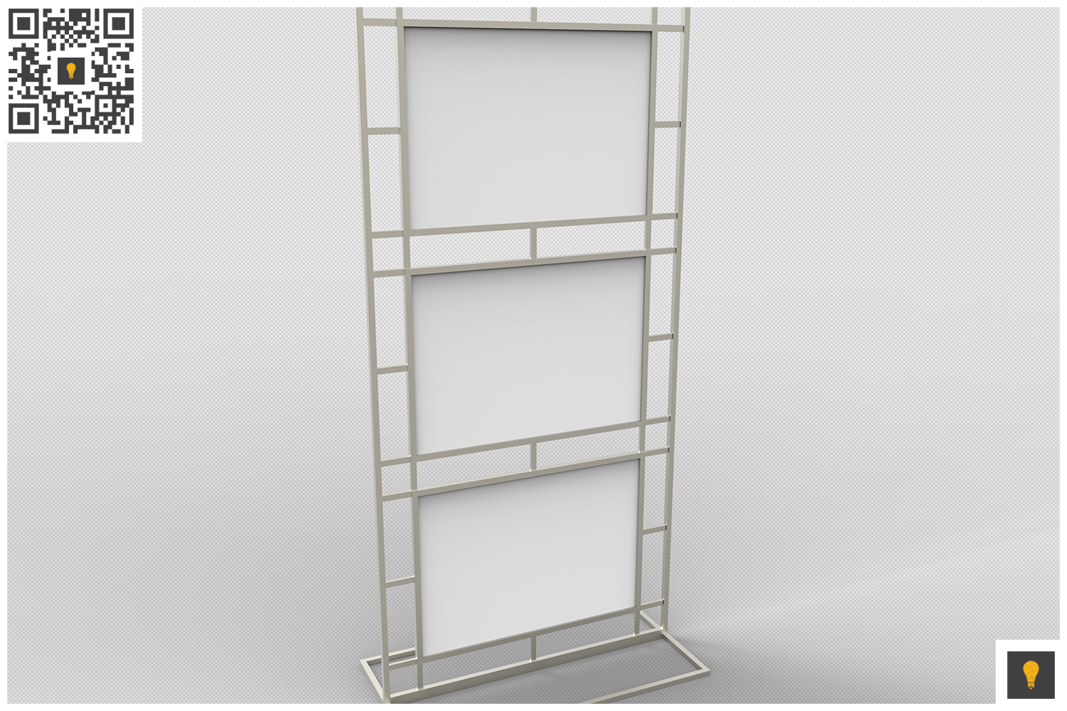 Poster Stand Display 3D Render example image 3