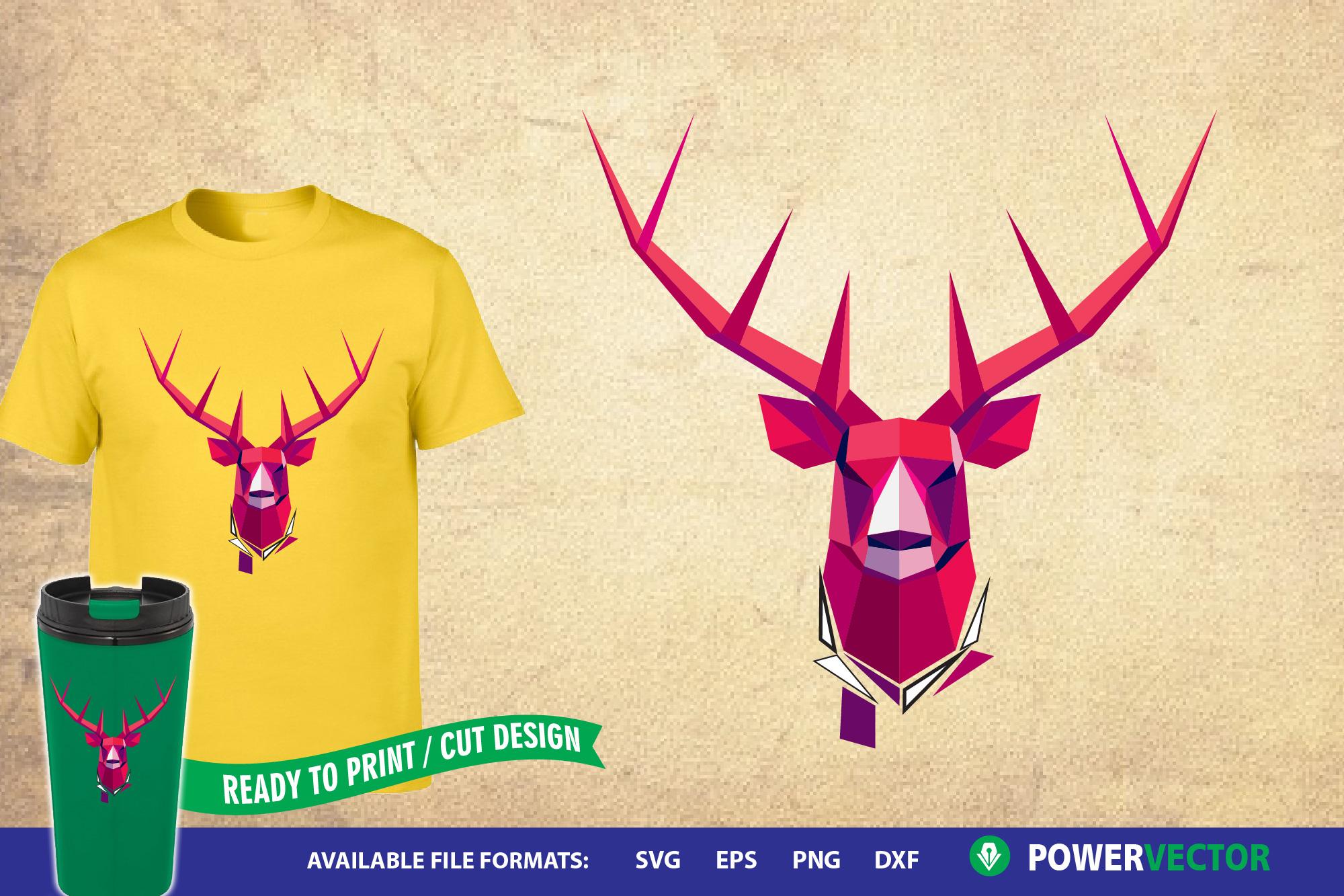 Deer Head Geometric Design example image 1