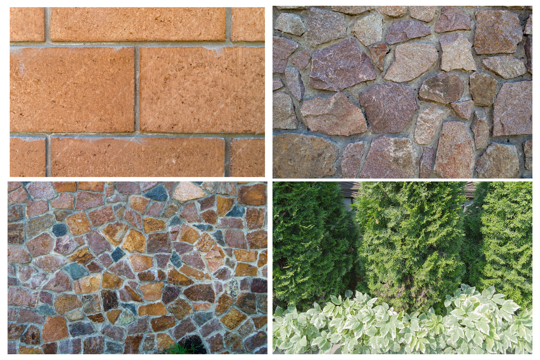 Bricks, fence and greenery example image 2