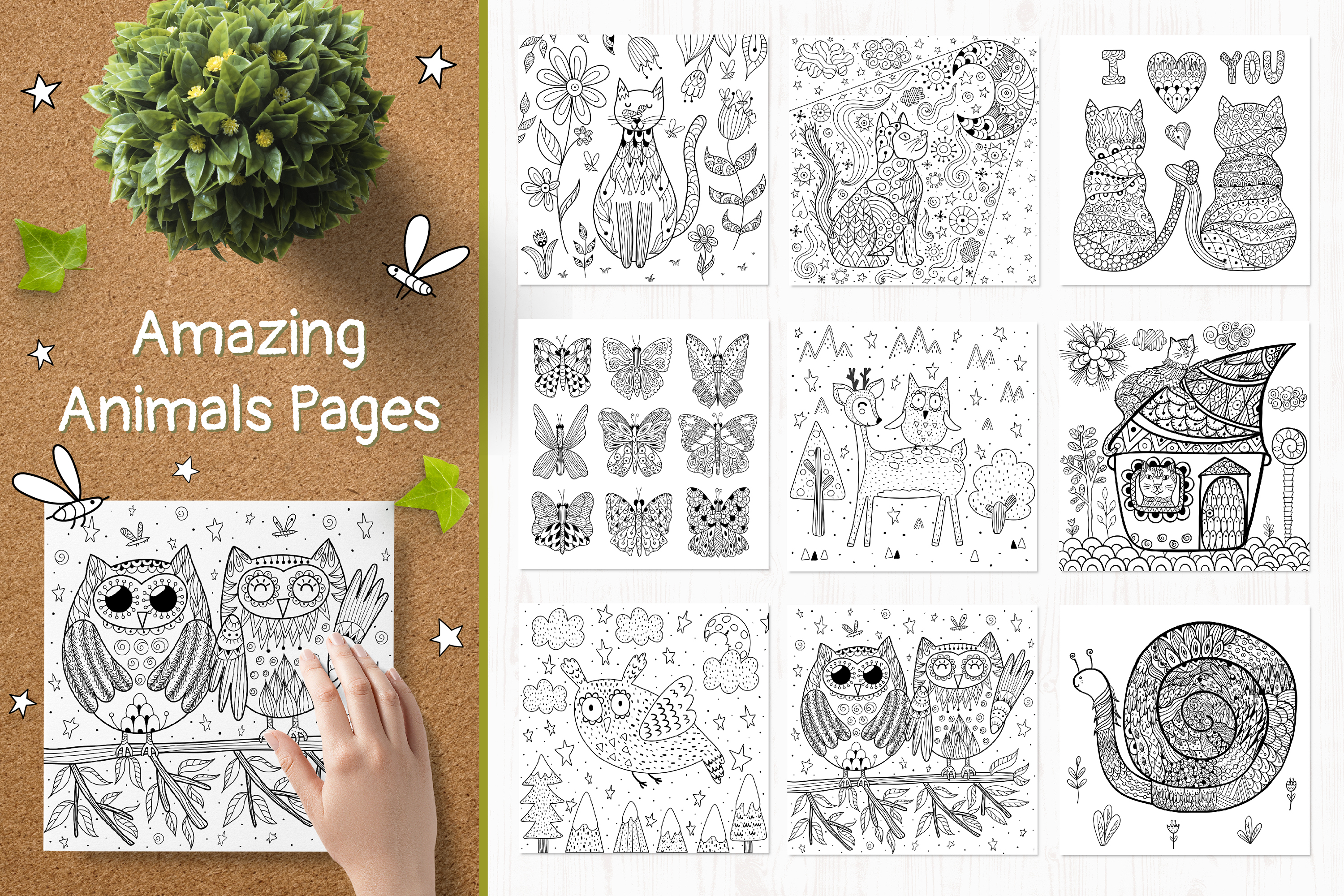 70 Coloring Pages Amazing Animals example image 12