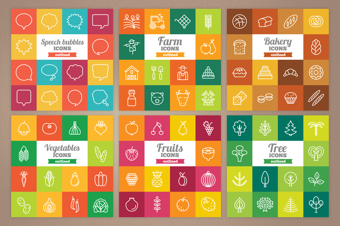 83 Off - Outlined Icons Big Bundle example image 7