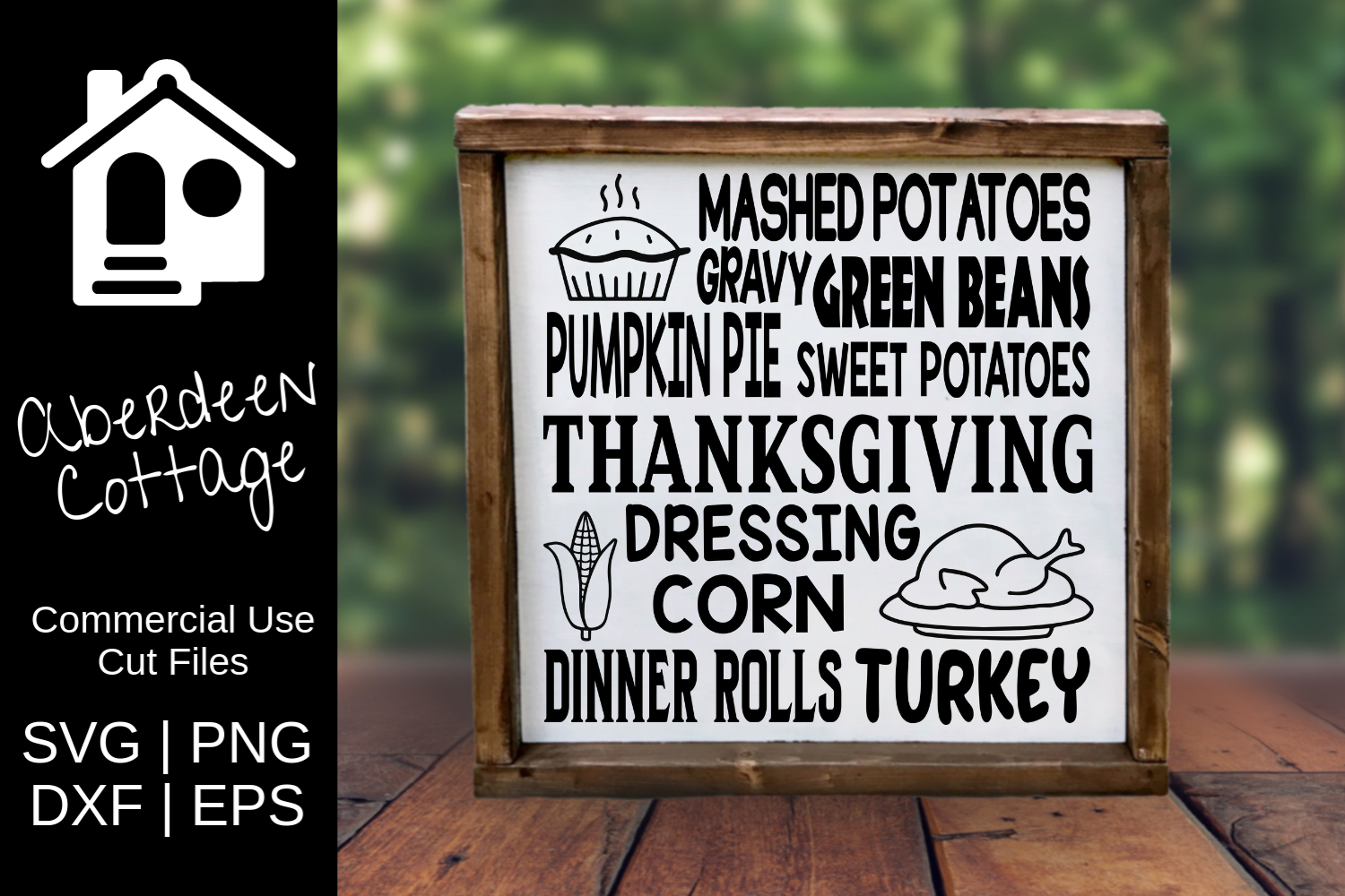 Thanksgiving Expressions SVG | PNG | EPS | DXF example image 2