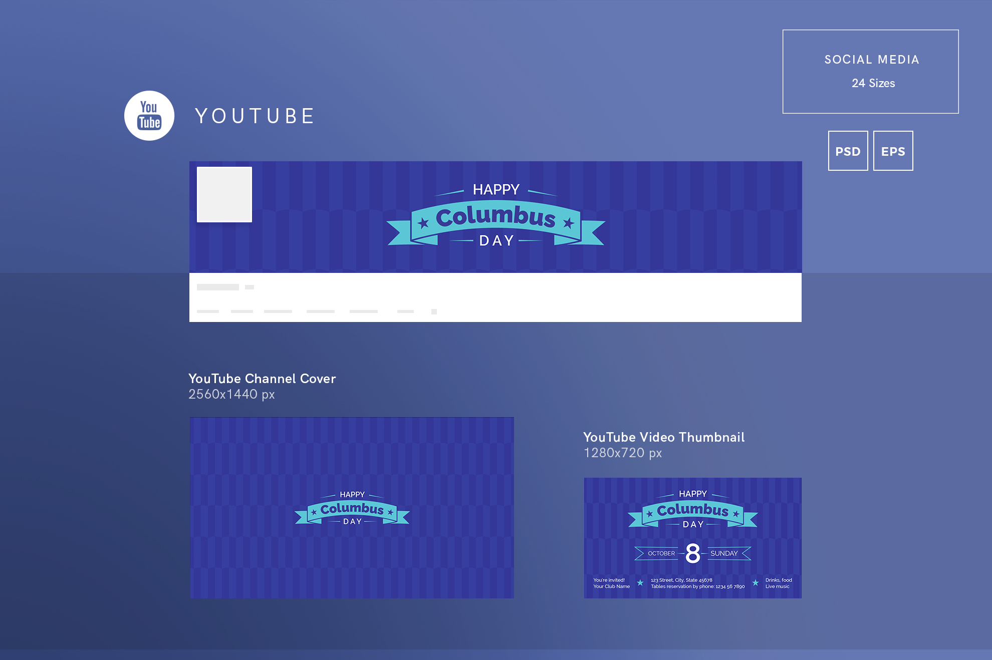 Columbus Day Party Design Templates Bundle example image 7