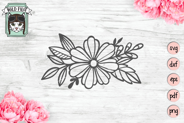 Flowers SVG file, Floral cut file, Flower Accent, Bundle example image 5