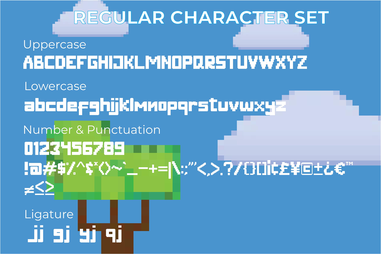 Digitizer - Pixel Font Family example image 4
