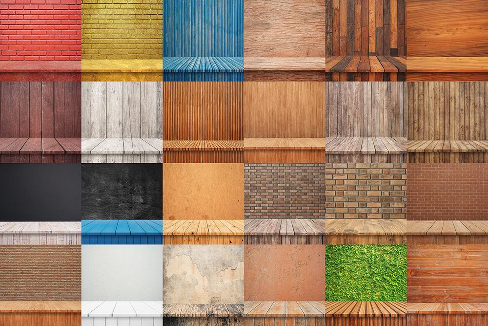 100 Realistic Shelves on Wall. Set 2 example image 5