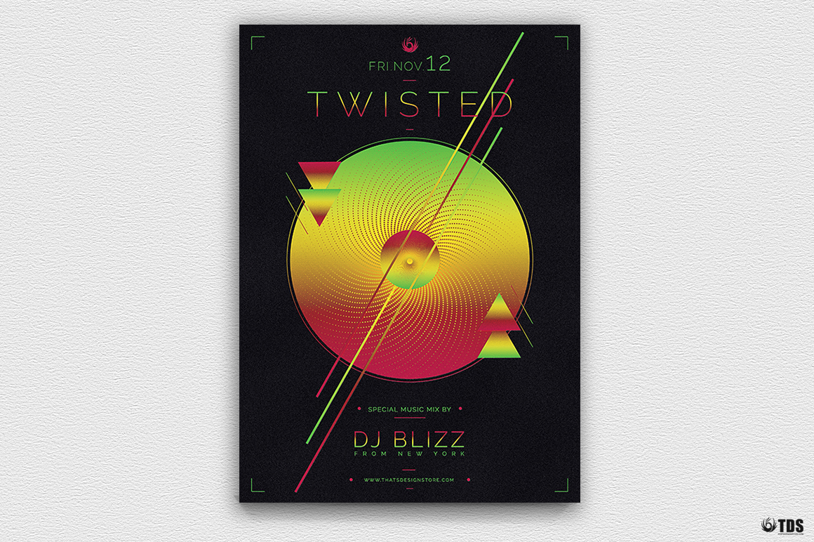 Twisted Session Flyer Template example image 5