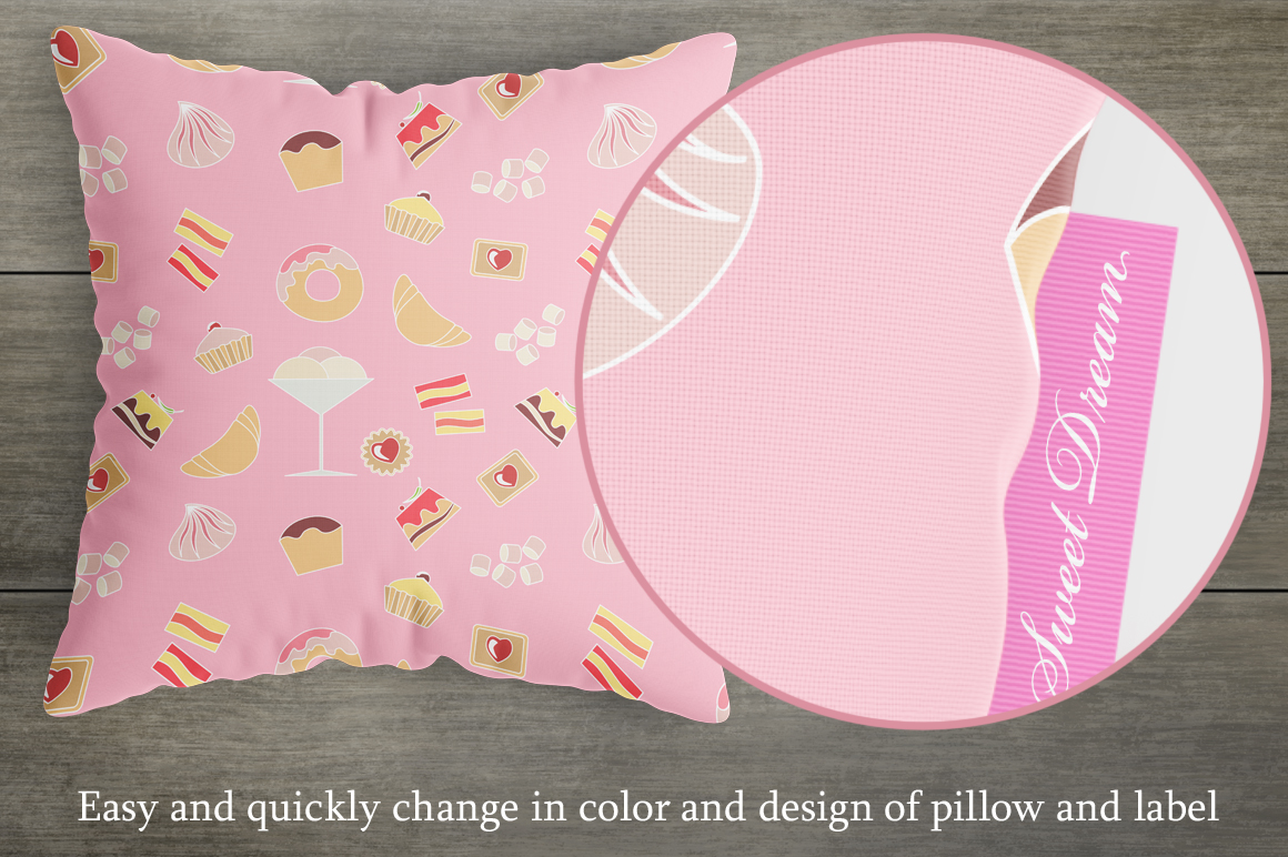 Square pillow mockup. Product mockup. example image 3