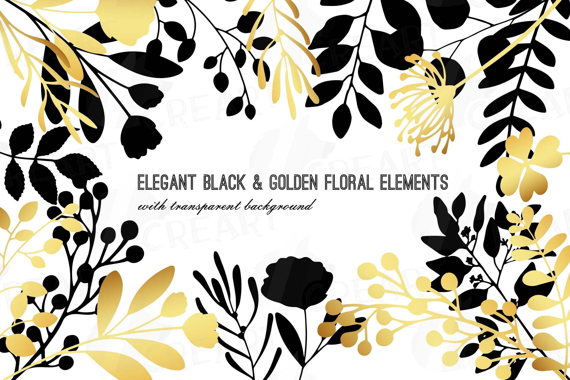 Elegant Golden Wedding Branch And Leaf Clip Art Pack Png S