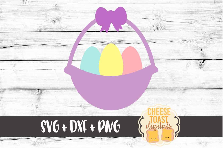 Easter Basket - Easter SVG PNG DXF Cut Files example image 2
