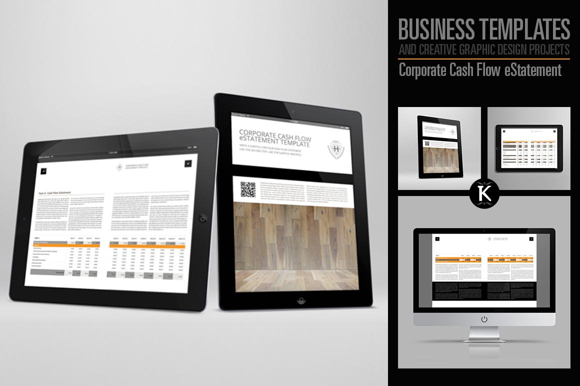 Corporate Cash Flow eStatement example image 1