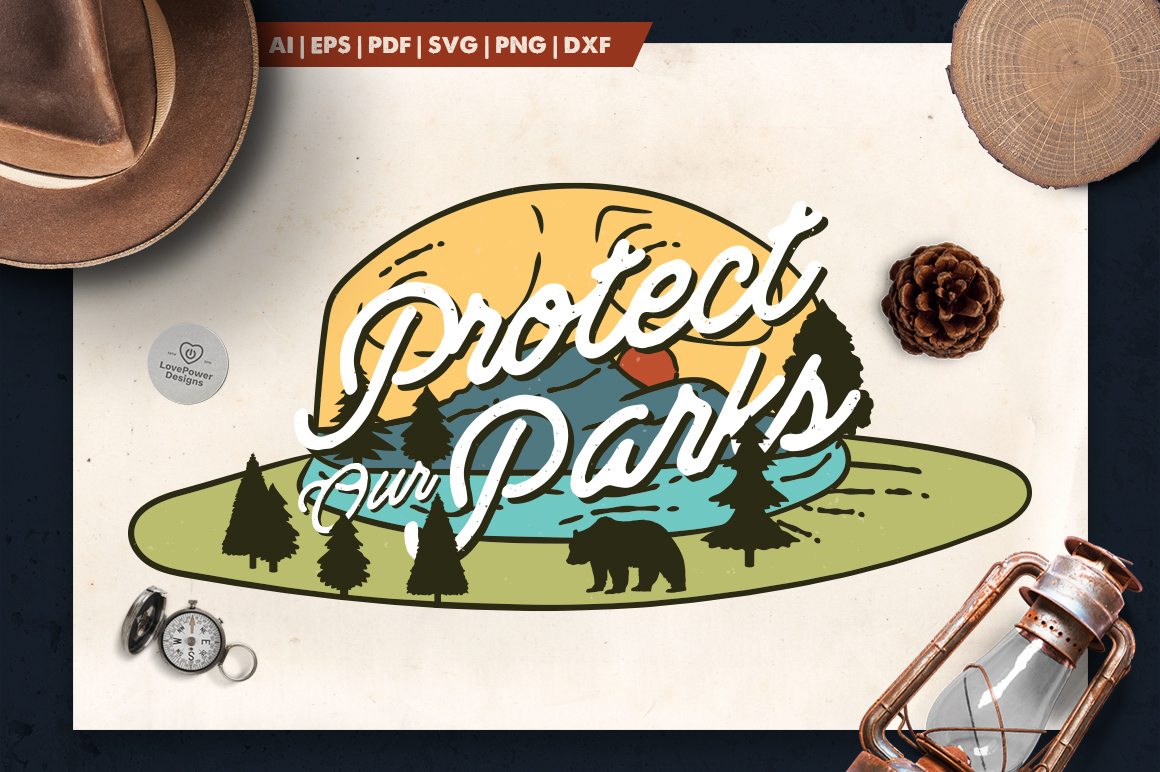 National Park Ranger Logo / Mountain Adventure Badge SVG example image 1