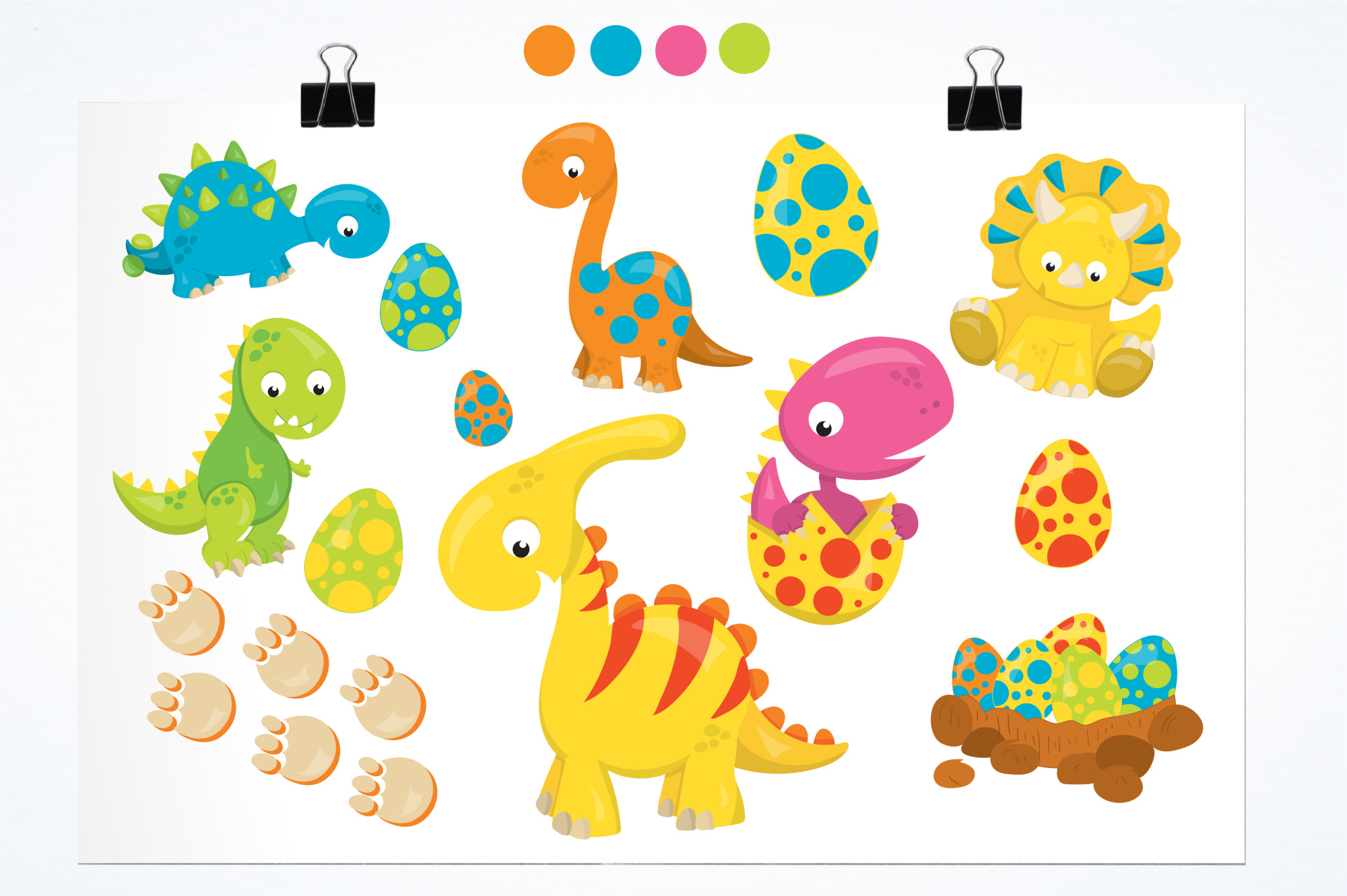 Dinosaur Babies graphics and illustrations example image 2