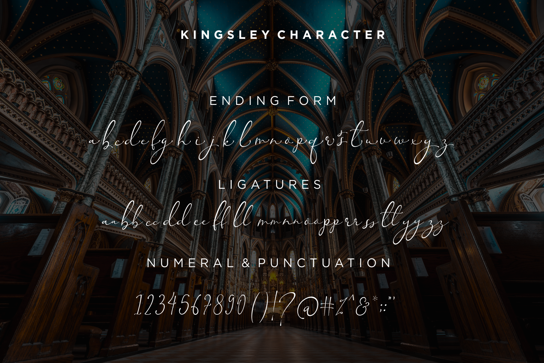 Kingsley - Modern Script Font example image 10