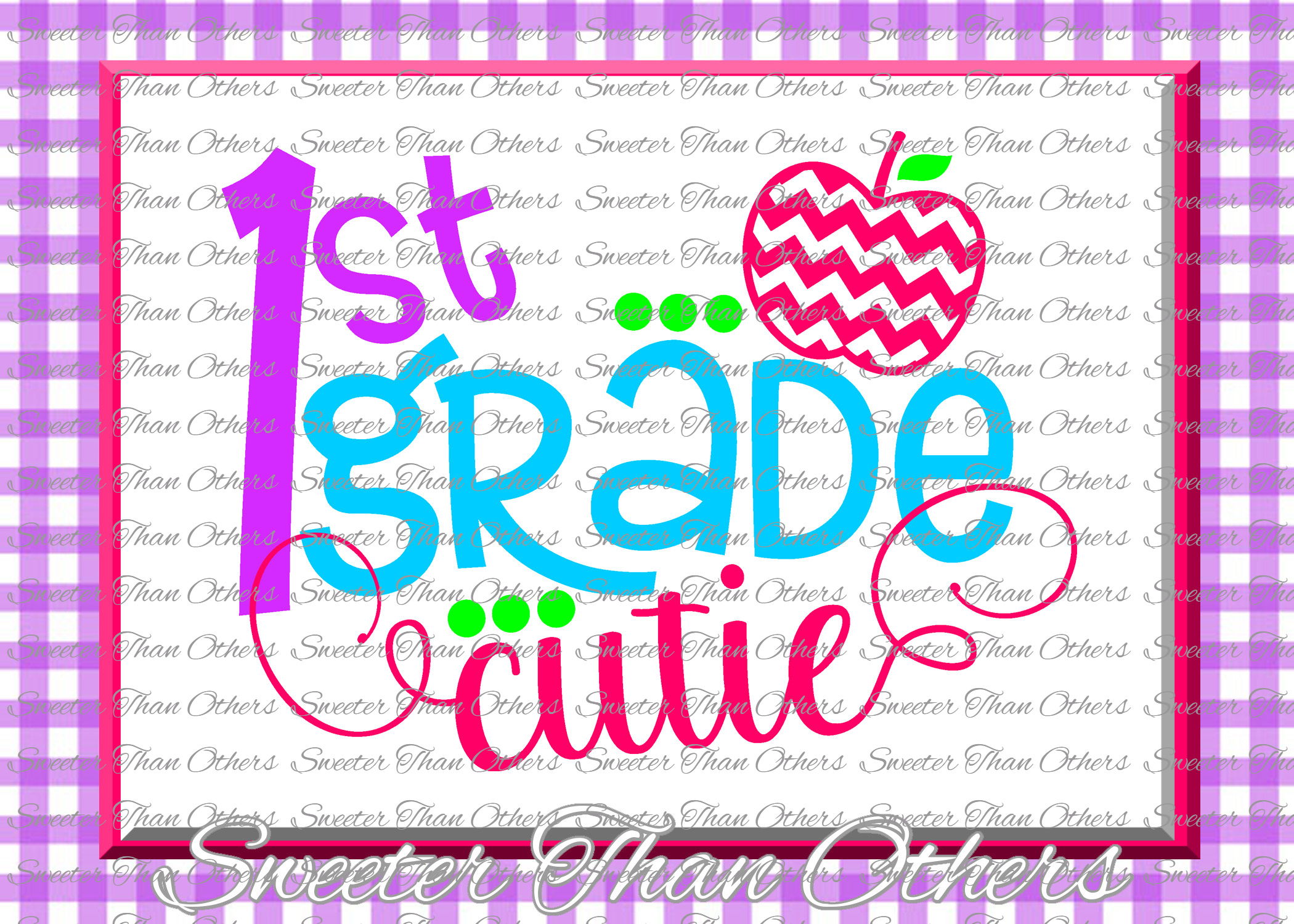 School Cutie SVG Bundle Kindergarten First Day of School example image 2