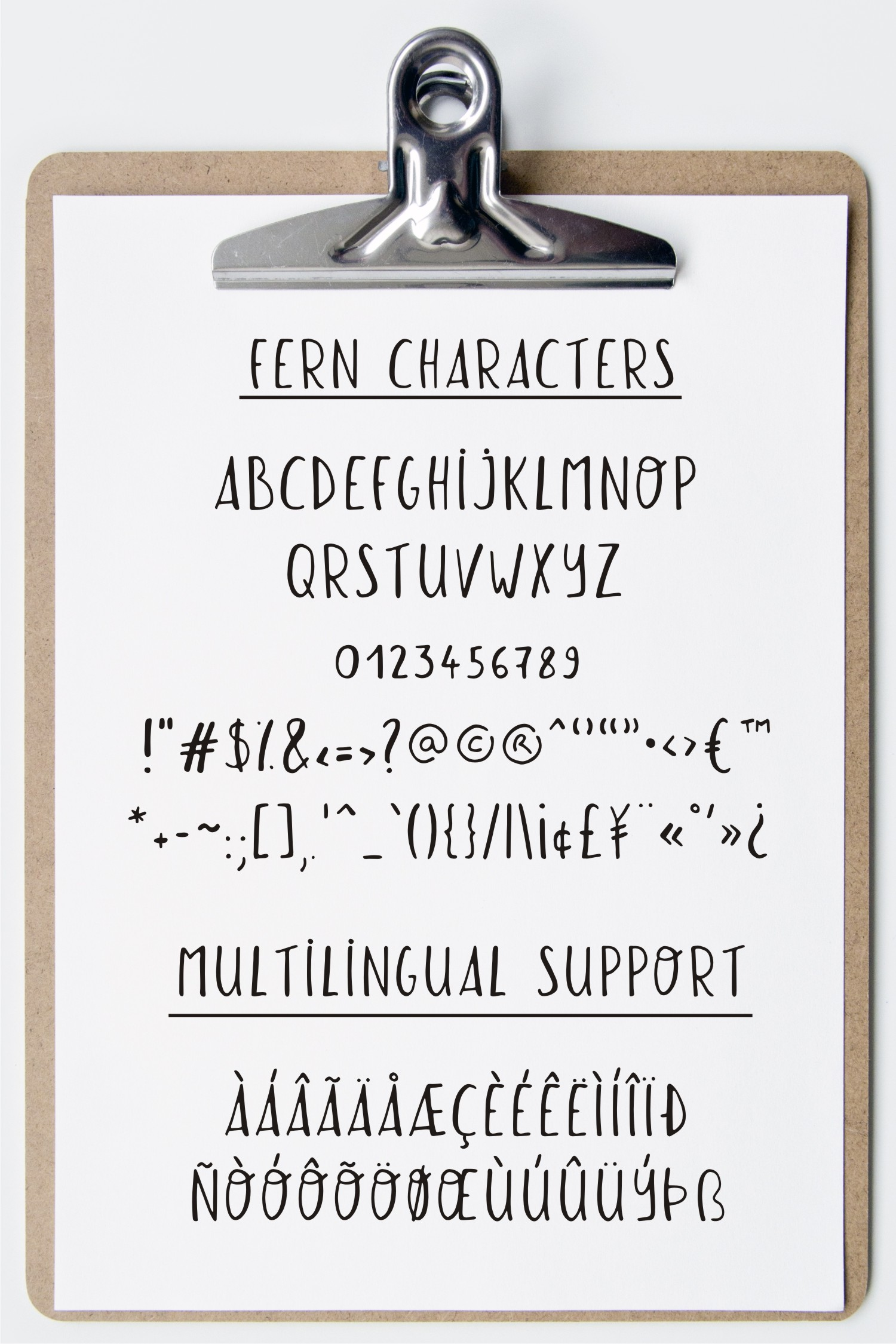 Eliott and Fern rustic font duo & Farmhouse doodles example image 8