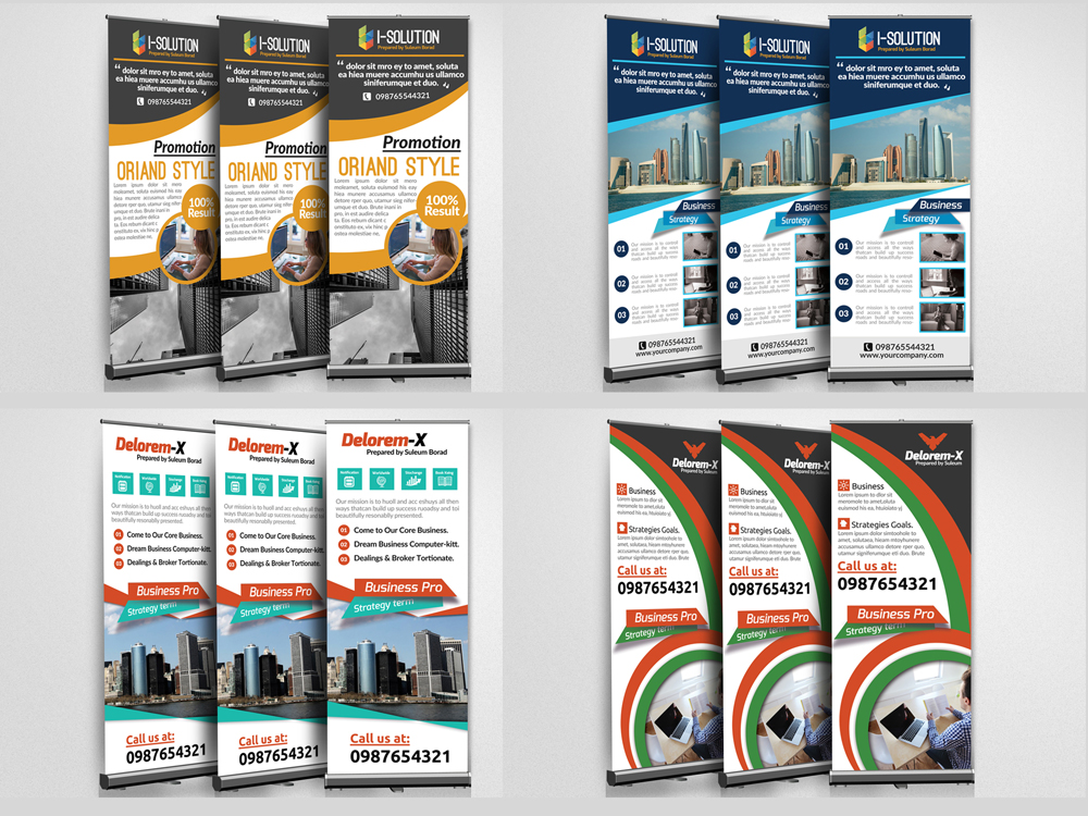 10 Multi Use Business Roll Up Banners Bundle example image 4