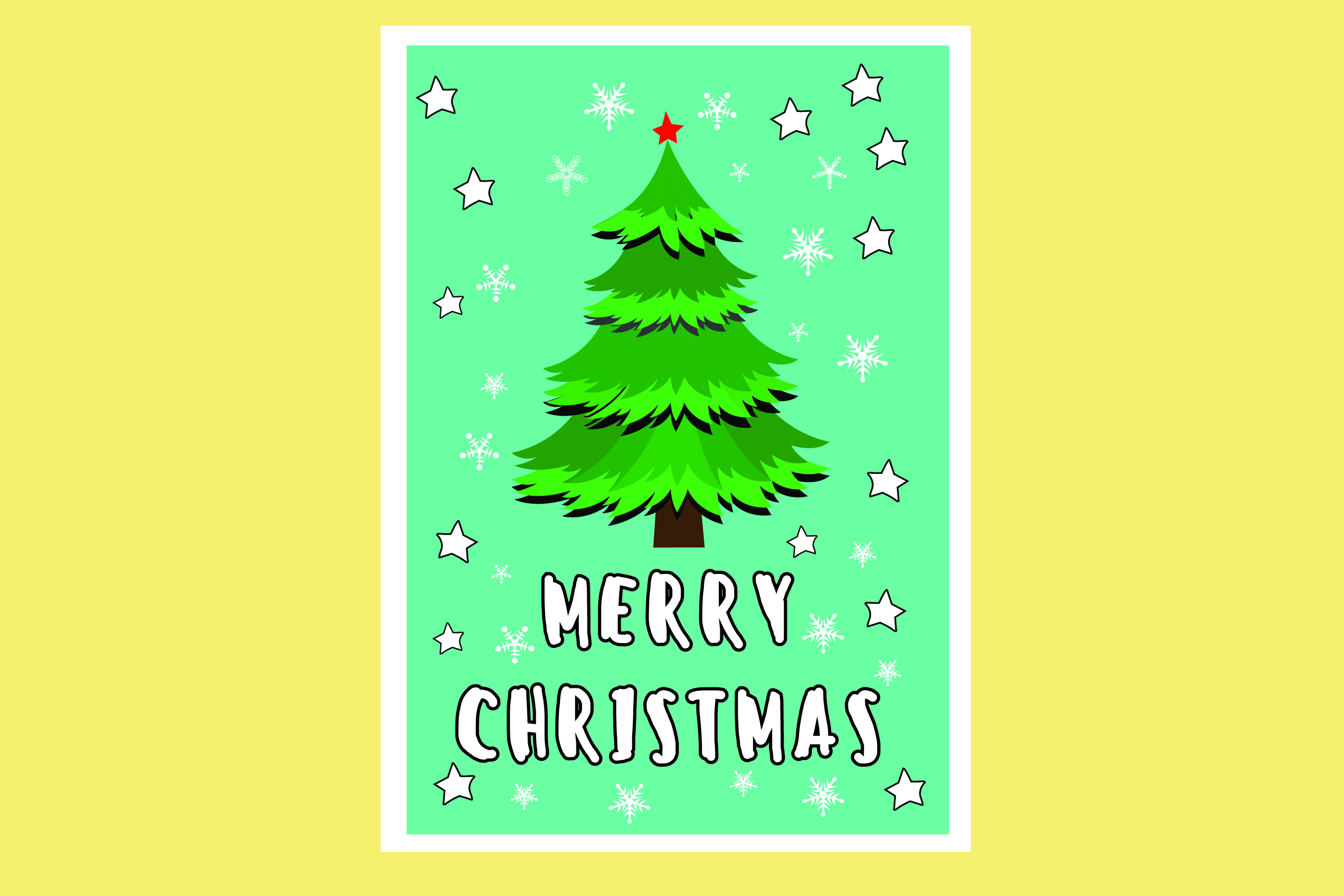 AA25-Christmas Greetings cards 6 Designs - SVG Bundle example image 2