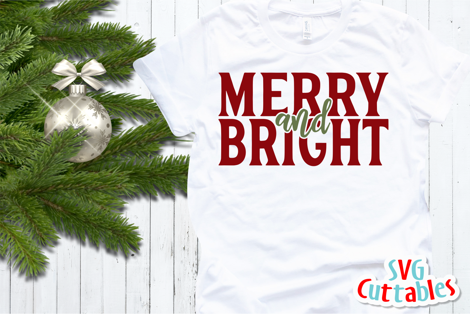 Merry and Bright | Cut File example image 3