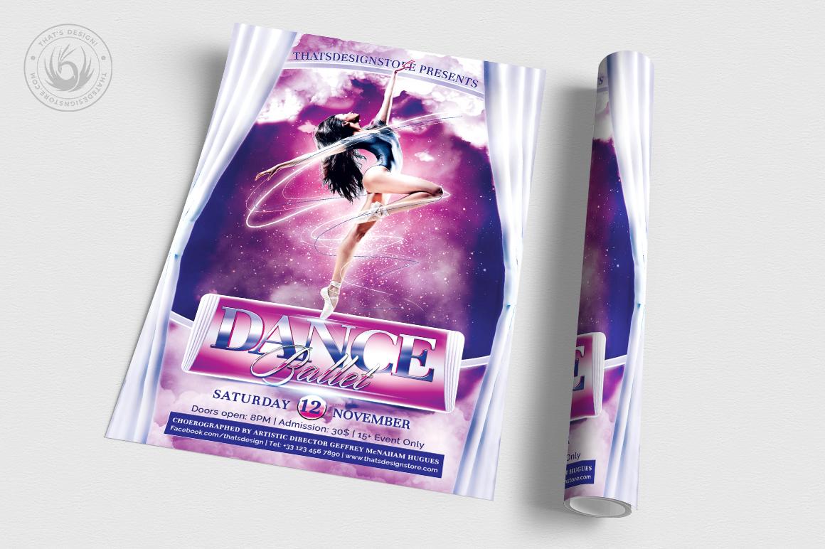 Dance Ballet Flyer Template V1 example image 3