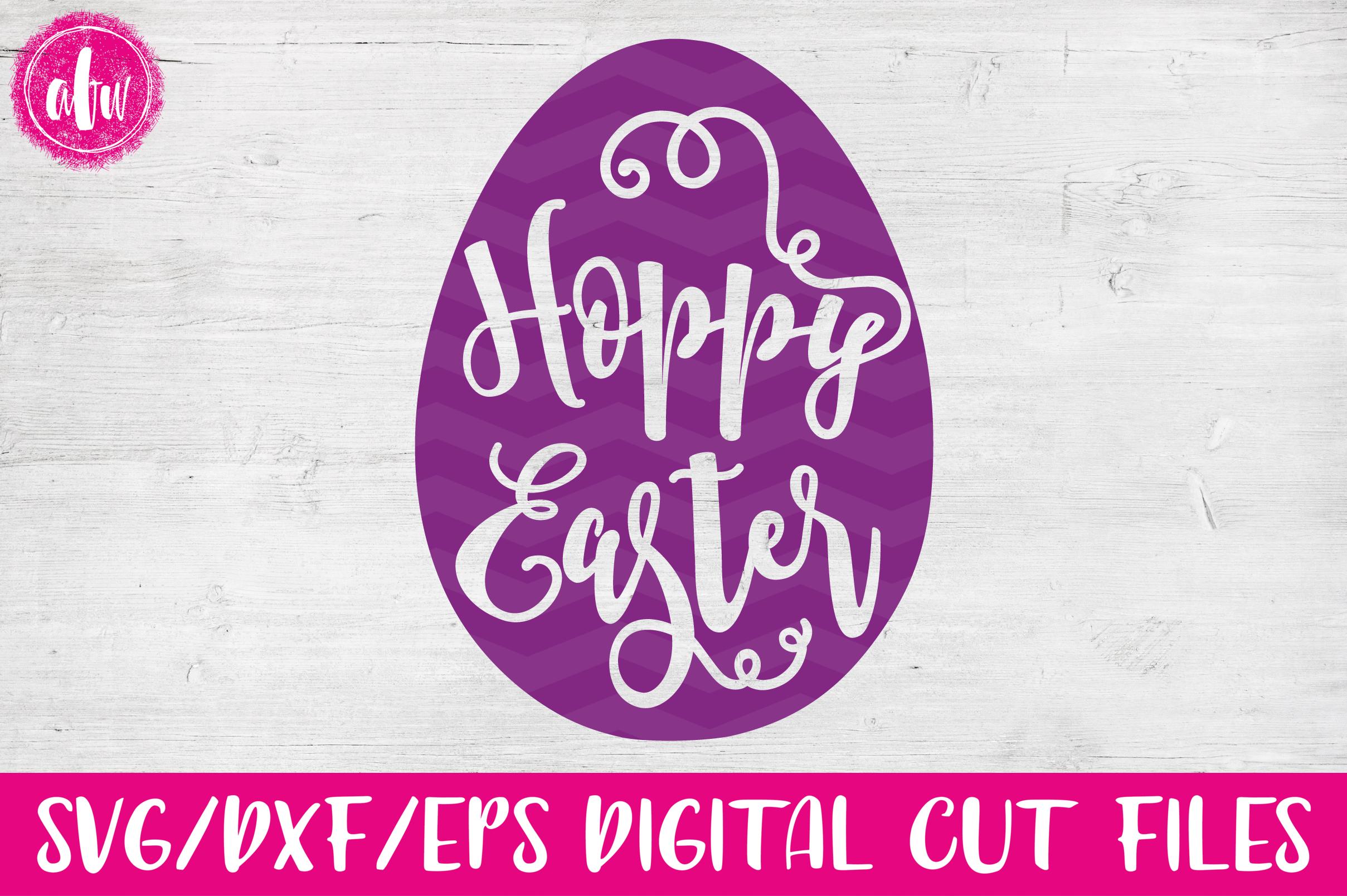 Hoppy Easter Egg - SVG, DXF, EPS Cut File example image 1