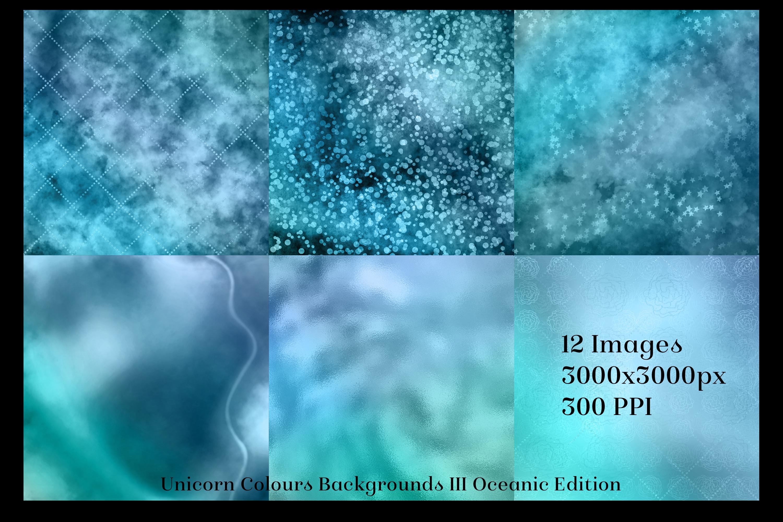 Unicorn Colours Backgrounds III - Oceanic Edition Textures example image 2