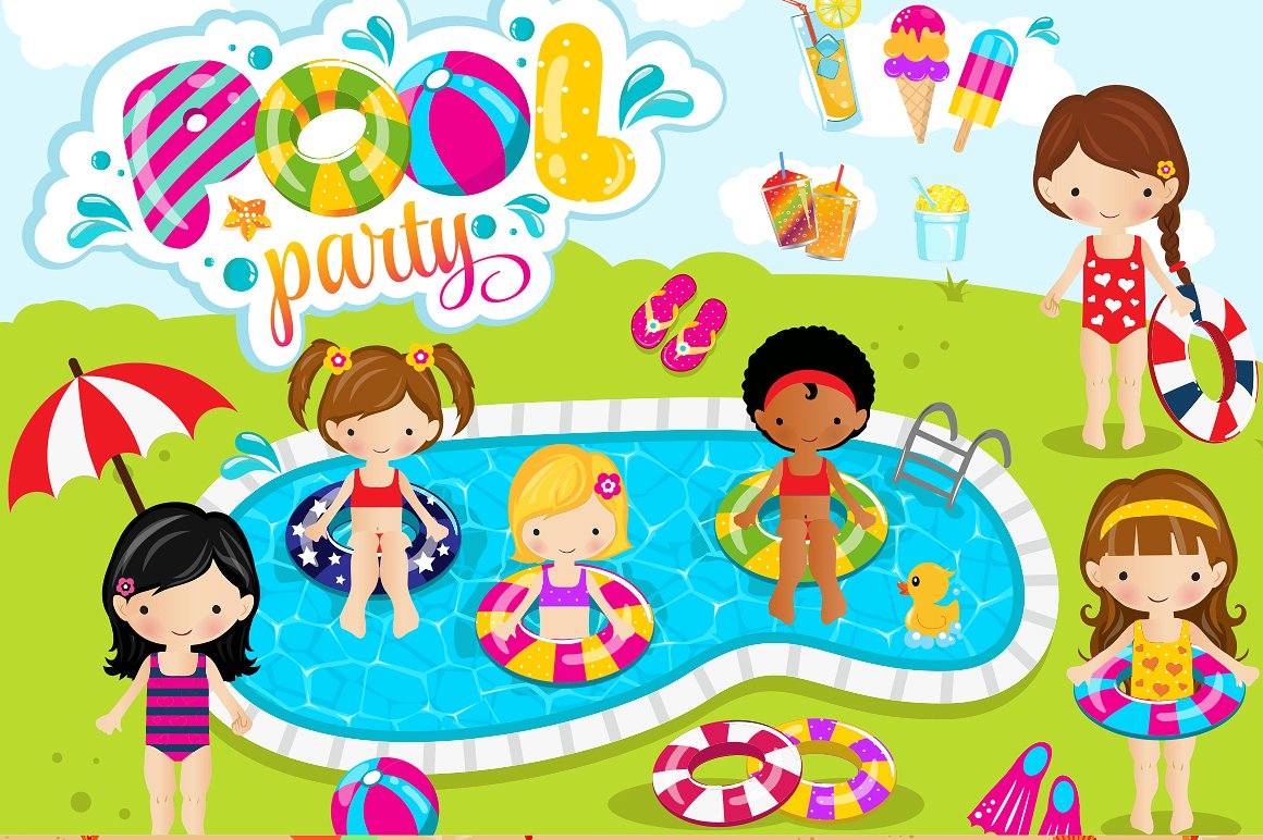 Summer Clipart Bundle - 126 cliparts example image 8