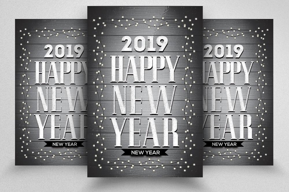 Happy New Year Celebration Flyer example image 1