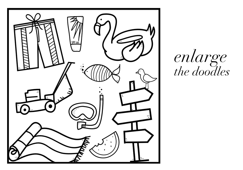 Summer Break / Summer Doodle Font  example image 5