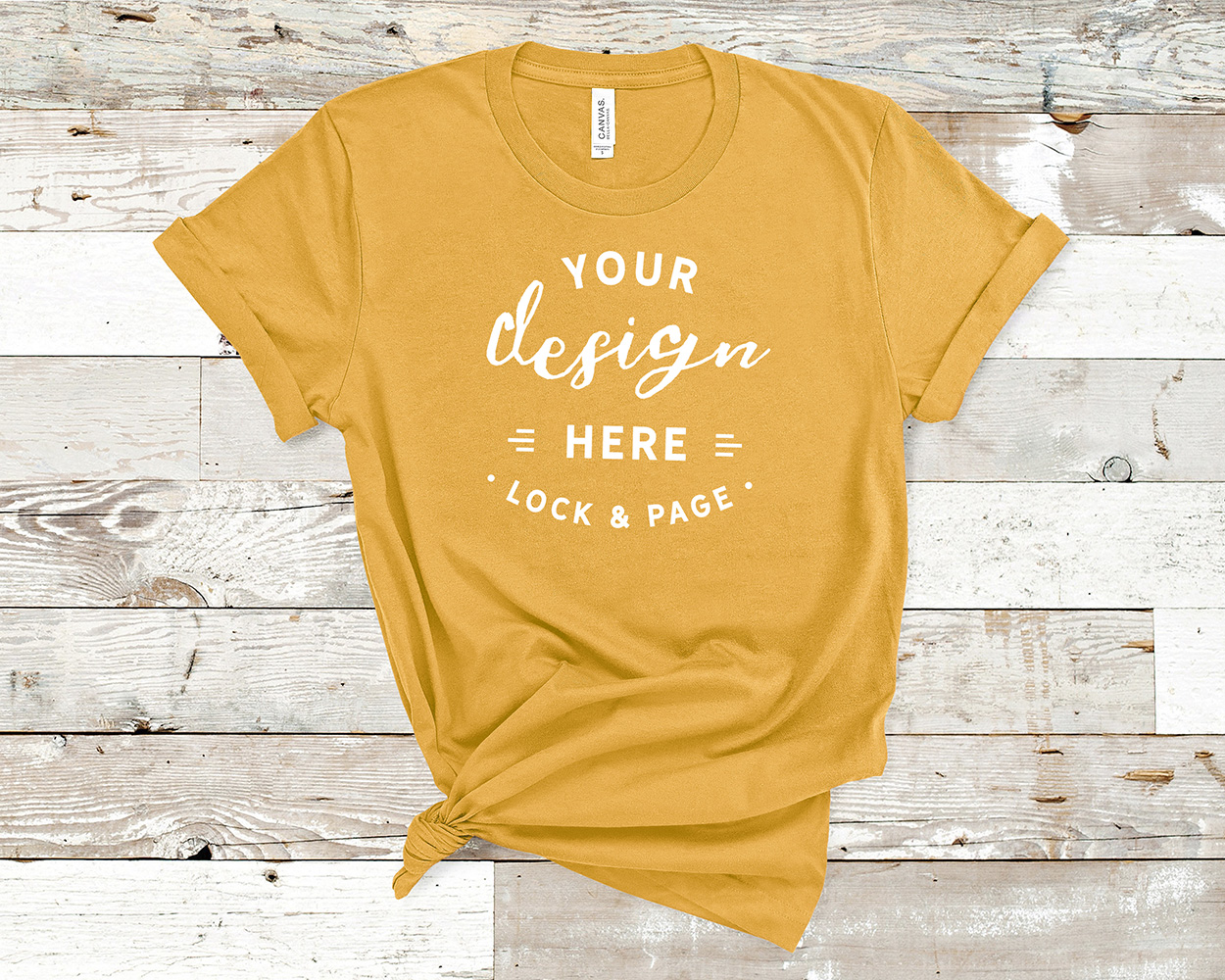 Bella Canvas 3001 Mockup T-Shirt Bundle All Colors On Wood example image 15