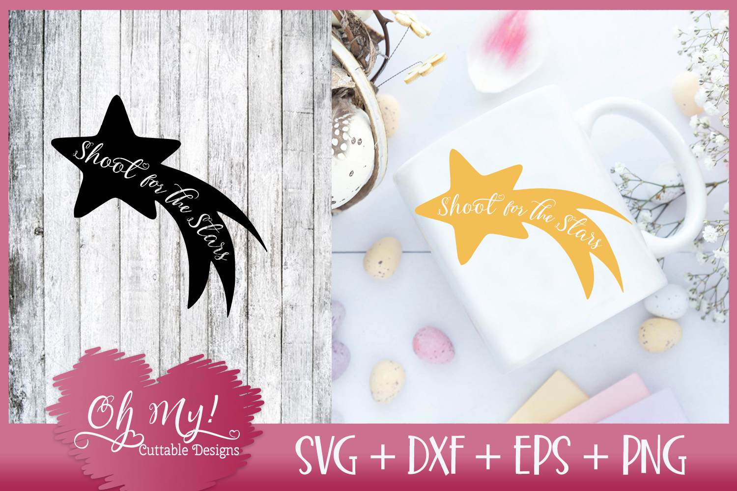 Shoot For The Stars - SVG DXF EPS PNG Cutting File example image 1