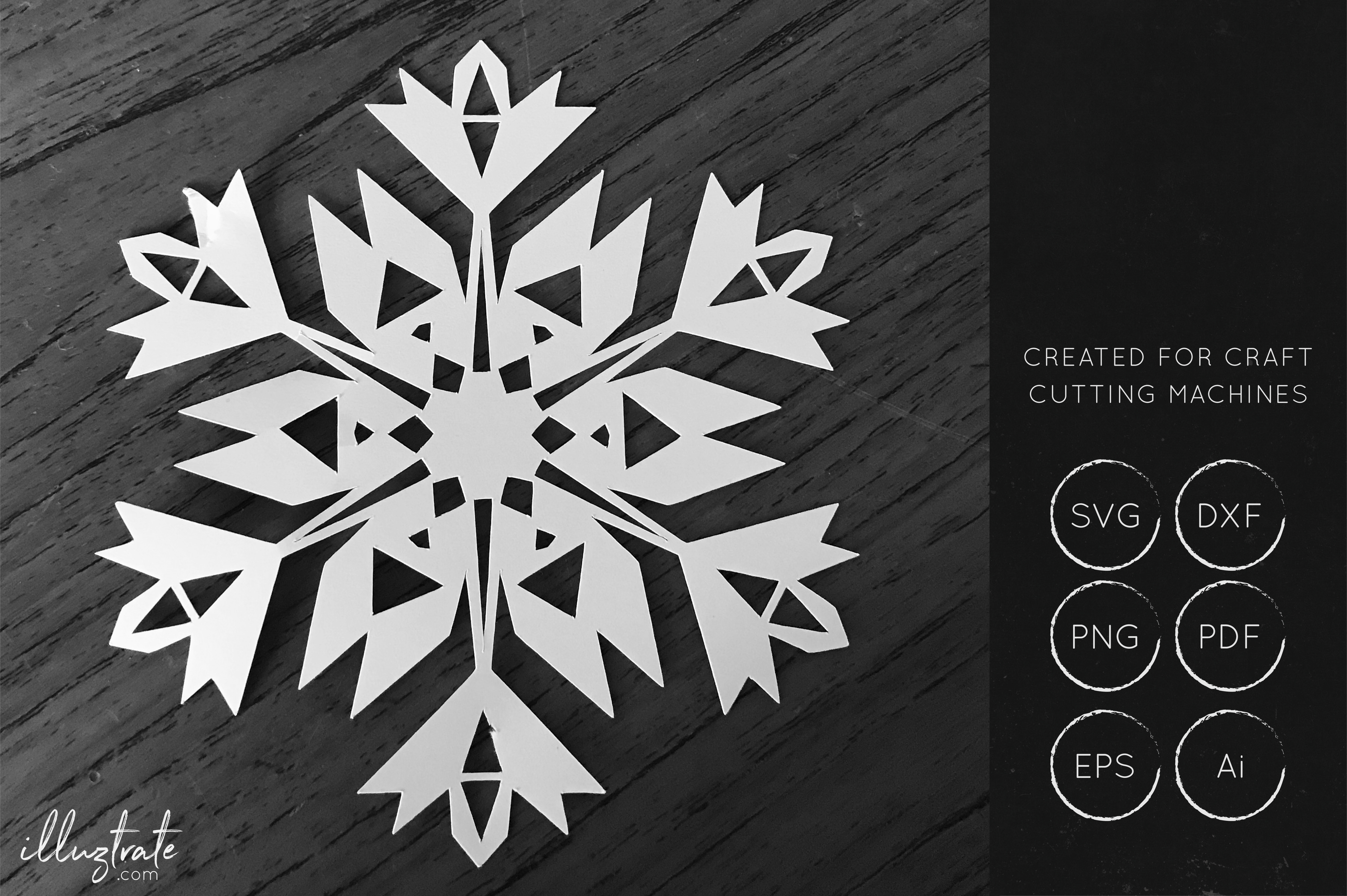Snowflake SVG Cut File Bundles - Christmas SVG - Snowflakes example image 12