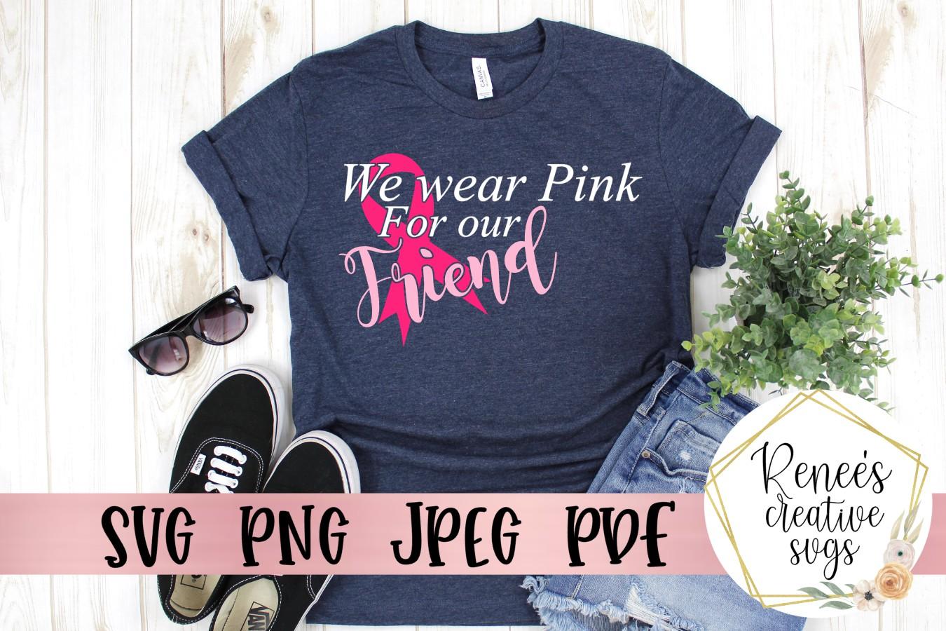 We Wear Pink Bundle|Breast cancer awareness | SVG Cut File example image 5