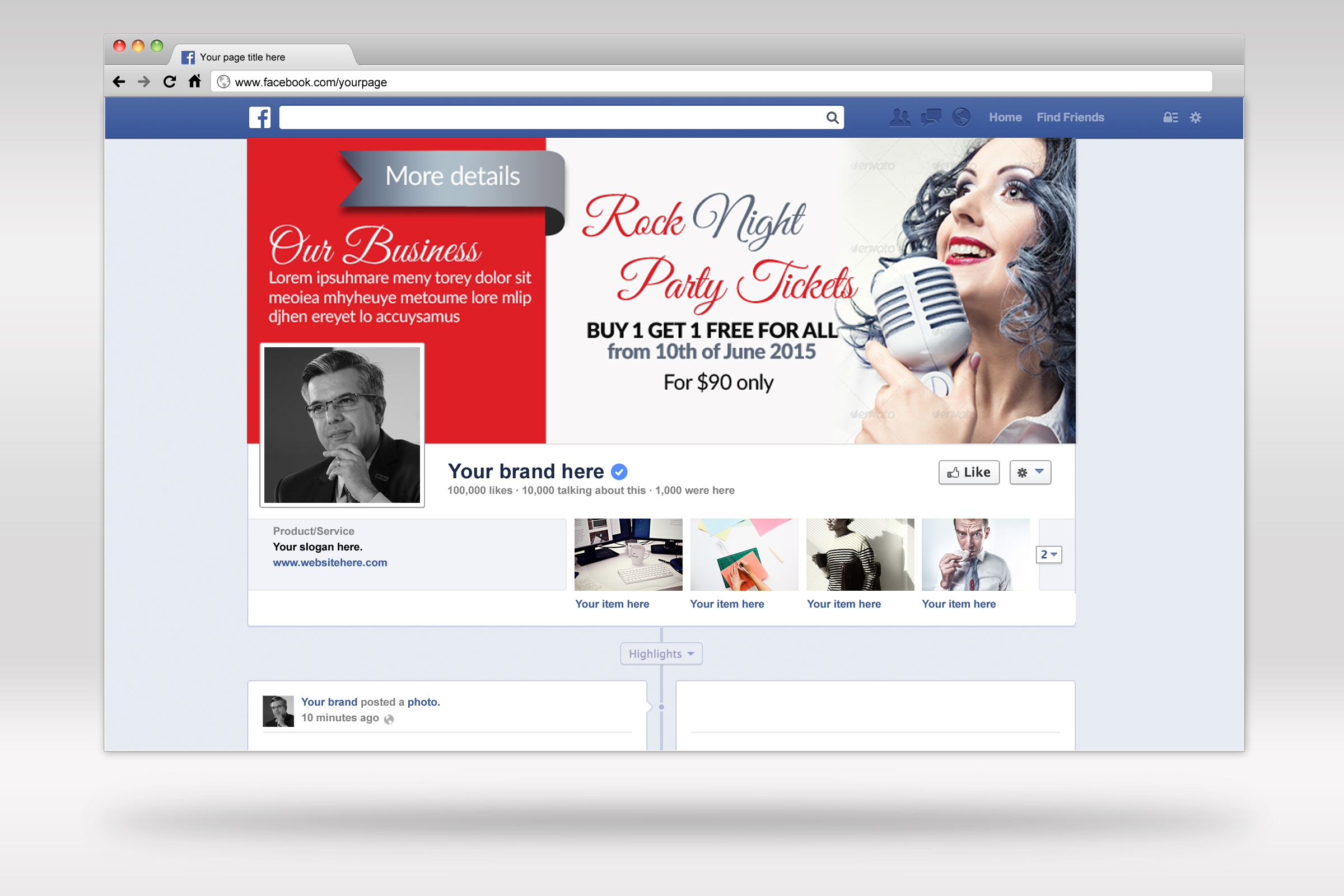 Music Concert Facebook Timeline Cover example image 3