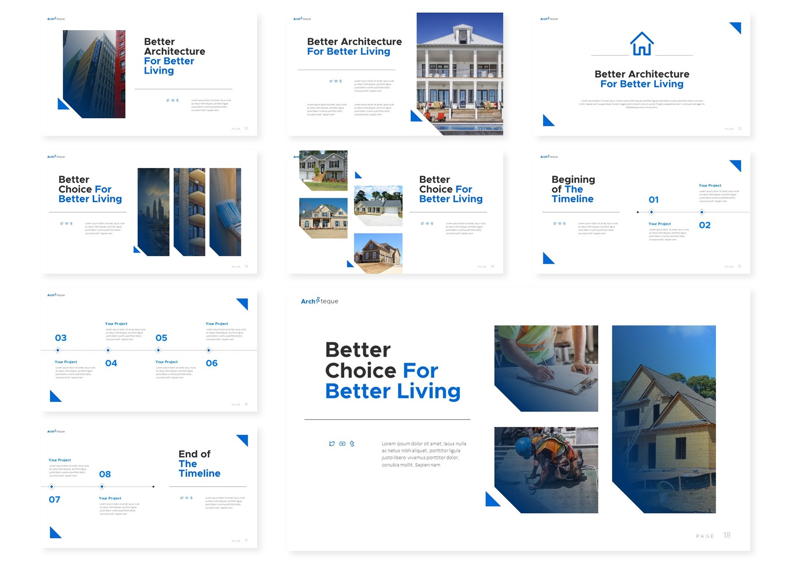 Architeque | Powerpoint, Keynote, GoogleSlides Template example image 5