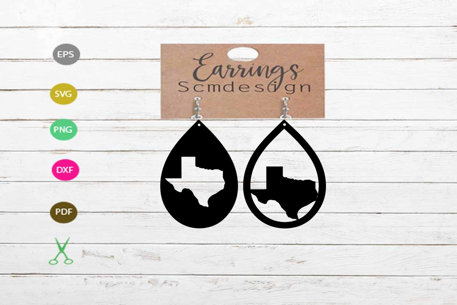 Texas svg, texas Earrings SVG,earrings template earrings cut example image 2