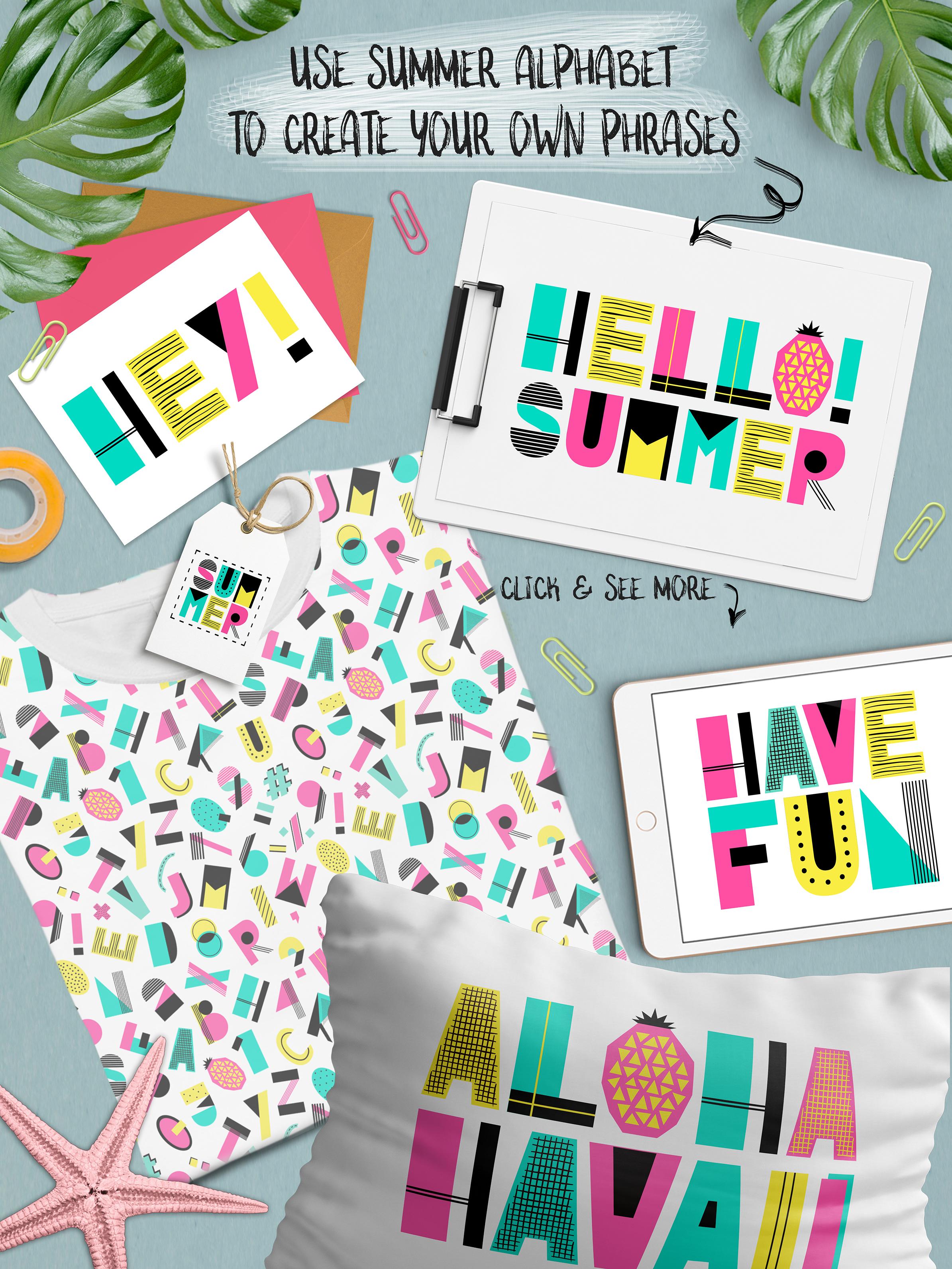 Cute Summer Alphabet example image 2