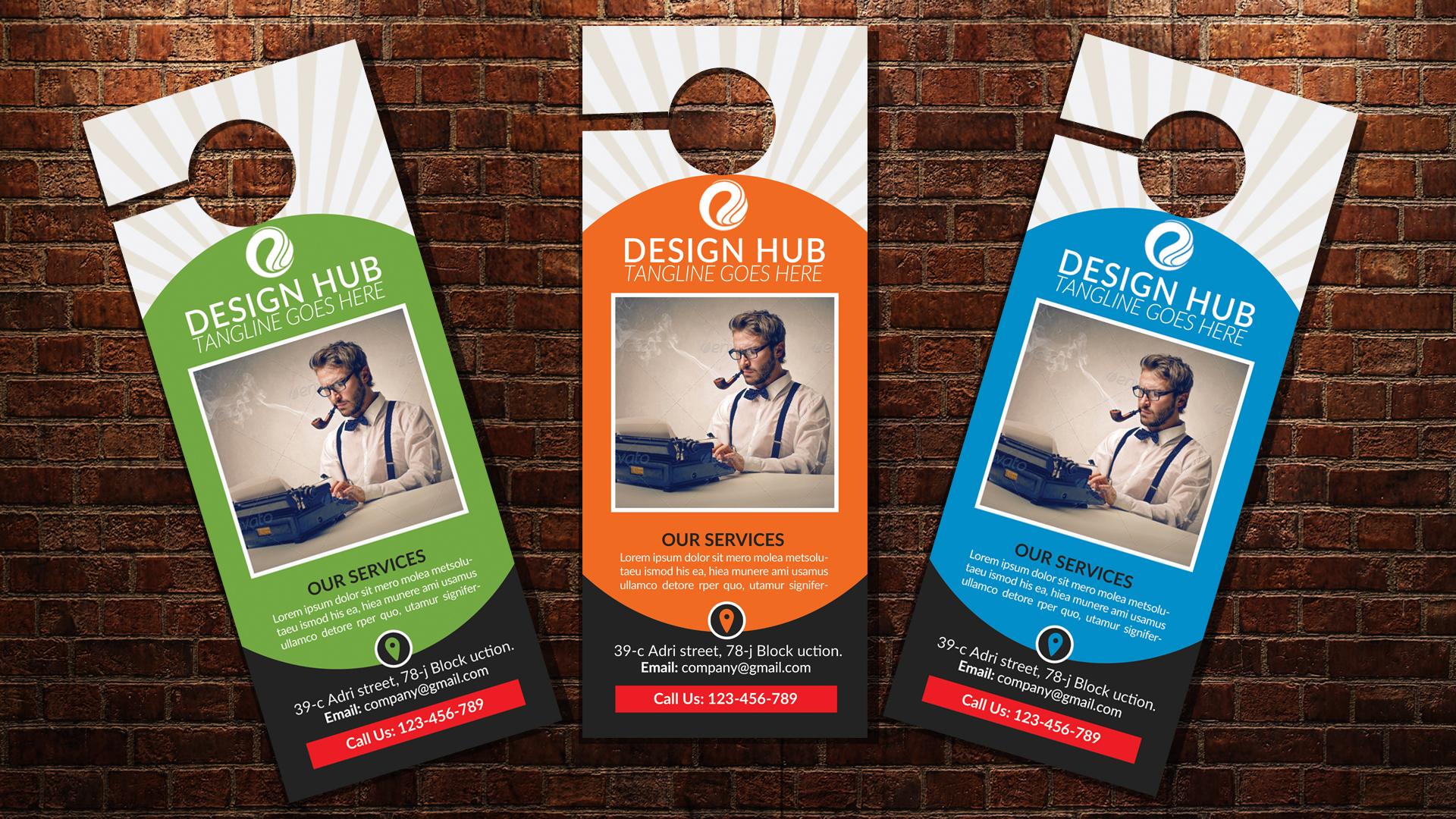 Business Editor Door Hangers example image 3