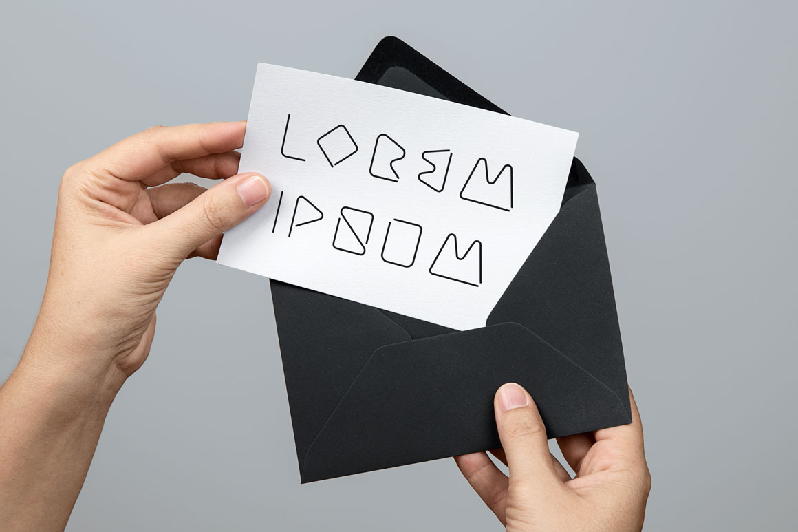 Creative minimalistic font. B&W example image 3