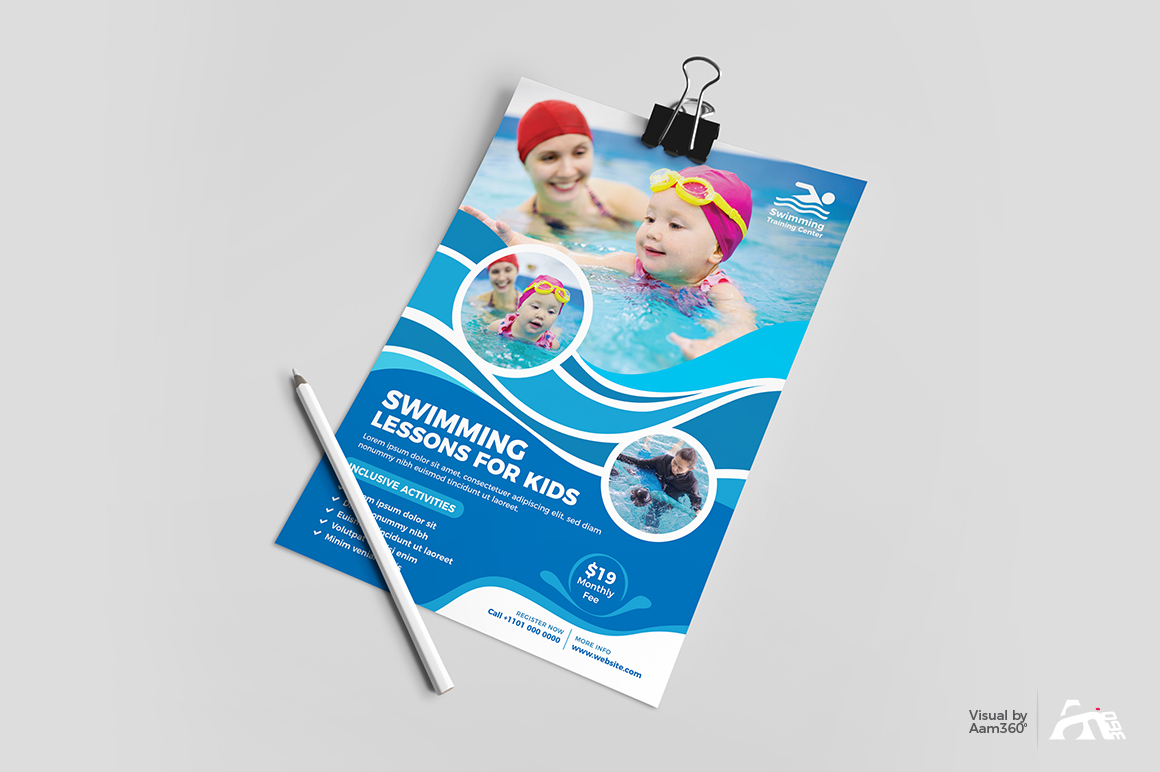 Kids Swimming Lessons Flyer example image 3