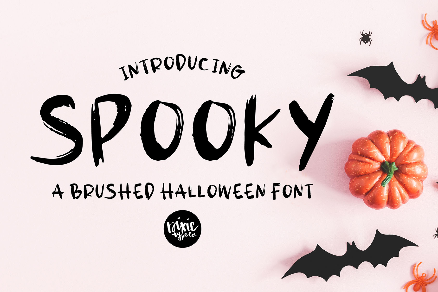 SPOOKY Halloween Distressed .OTF Font example image 1