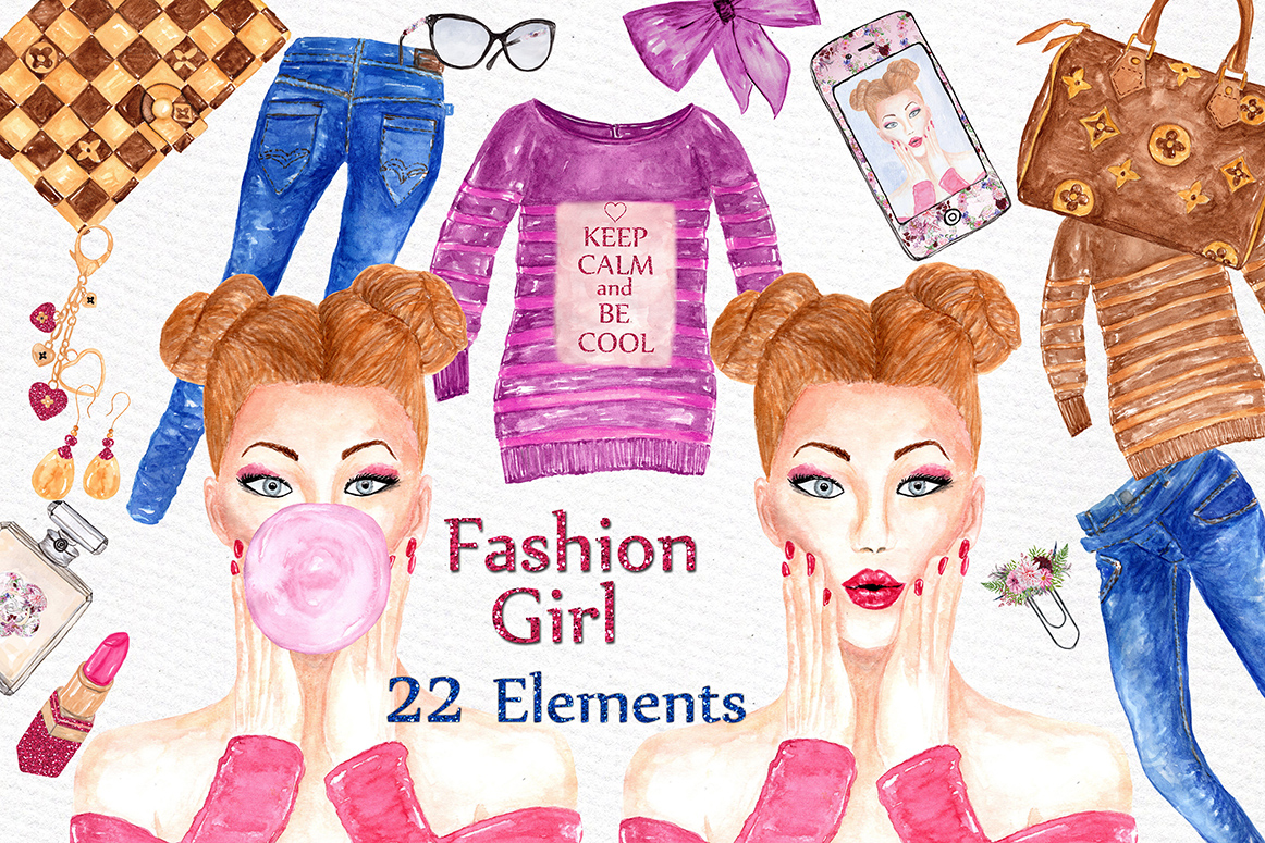 Fashion Girl clipart example image 1