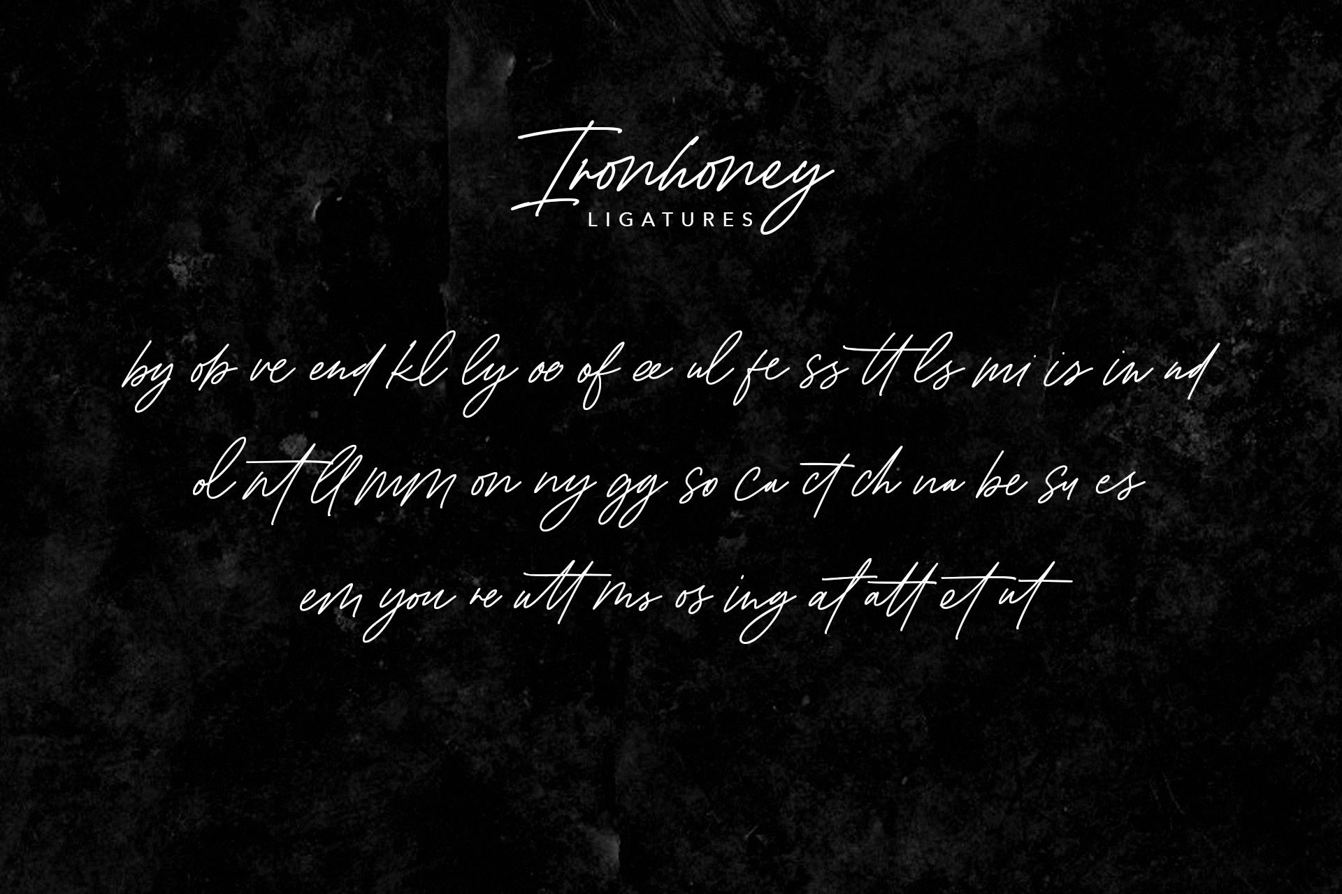 Ironhoney Signature Font example image 9