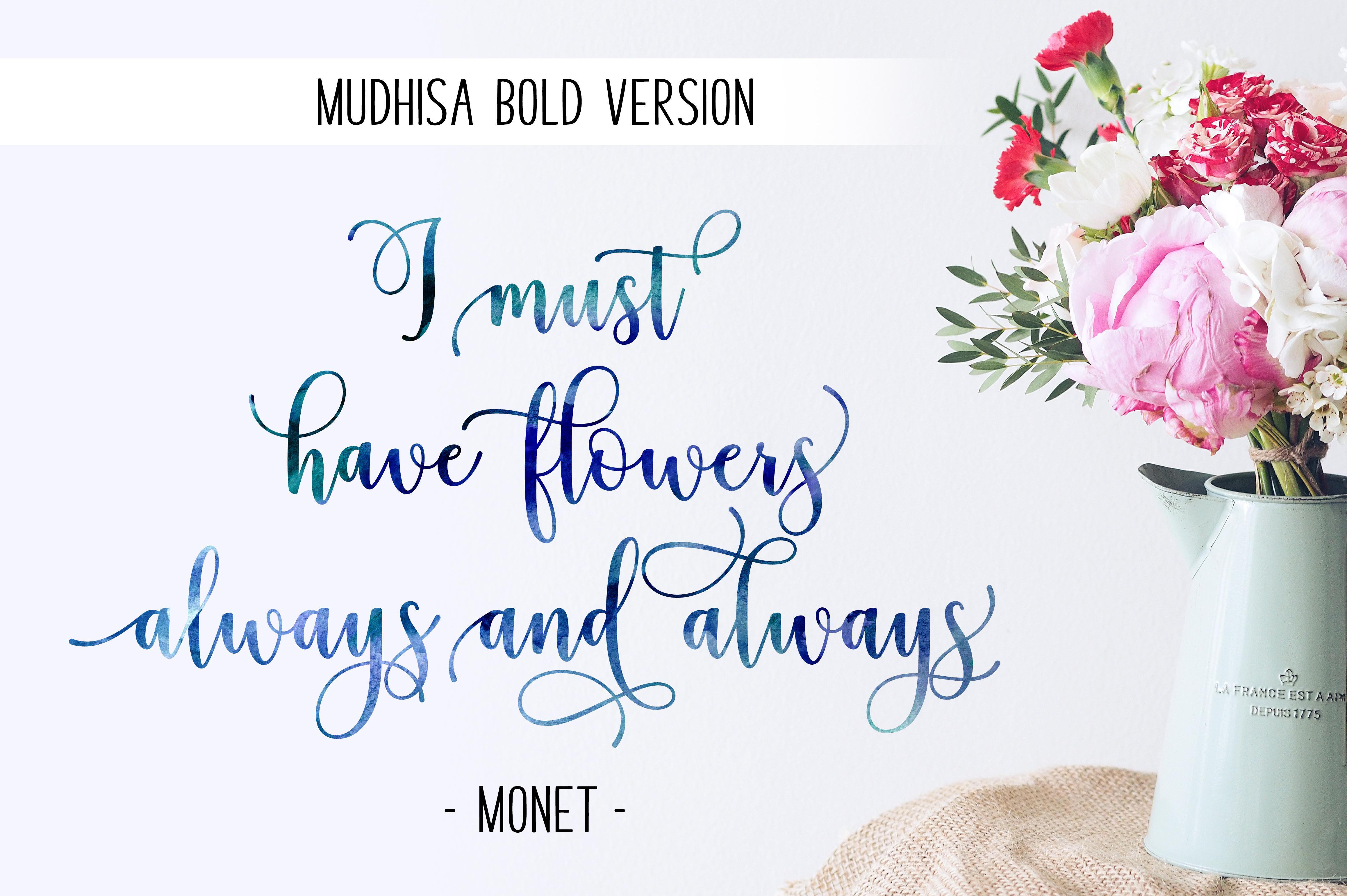 Mudhisa Script Font Trio example image 5