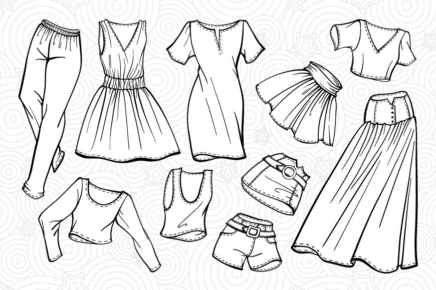 Fashion elements set example image 3