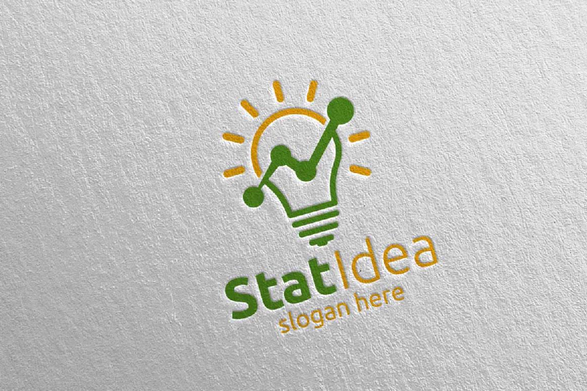 Stat Idea Marketing Financial Advisor Logo Design 16 example image 3